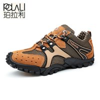 Wholesale casual male shoes sale for sale - Group buy POLALI Hot Sale Breathable Light Spring Summer Casual Sneakers Male Mesh Shoes For Men Cow Suede Leather Adult Walking