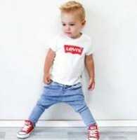 normalfarbenhemd kinder großhandel-2019 Mode Kinder 2-9 Jahre T-Shirt Kinder Revers Kurzarm T-Shirt Jungen Tops Kleidung Marken Einfarbig T-Shirts Mädchen Klassische Baumwollhemden