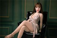 bonecas de silicone grátis venda por atacado-Venda Hot 140 centímetros Beleza japonês real Silicone Sex Dolls por Homens Big Ass Vagina Oral Anal TPE borracha Mulher frete grátis