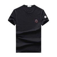 estilo do polo do colar dos homens venda por atacado-2019 marca internacional M projeto de mangas curtas T-shirt dos homens M1010 moda francesa estilo casual verão algodão polo camisa gola redonda