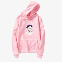 koreanische jungen karikaturen großhandel-BTS Hoodies Kawaii Cartoon Suga Sweatshirt Frauen Langarm Harajuku Fleece Pullover Lose Beiläufige Koreanische Kpop Bangtan Jungen Tops