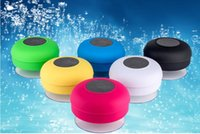 Wholesale Waterproof suction cup wireless bluetooth speaker bathroom small stereo outdoor portable subwoofer with Package Box