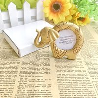 ingrosso titolari di carta di posto elefante oro-New Gold Elephant Portafoto Resina posto cornice carta da regalo da sposa d'epoca del partito della decorazione della Tabella WB1006