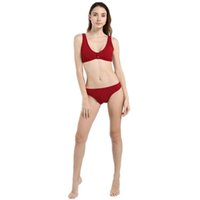 bikini-bh-sets groihandel-Womens Push Up Badeanzug enthüllt Tanga Bikinis V Bottom Style Brasilianischer BH Set Knopf Bikini Badeanzüge