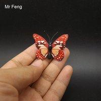 kelebek oyunları toptan satış-Mini Boyutu PVC Mıknatıs Kelebek 3D Çıkartmalar Model Oyuncak Çocuklar Için Eğitim Oyunu (Model Numarası I257)