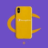 capas amarelas de iphone de borracha venda por atacado-2019 novos campeões iphonex caso de telefone móvel 8plus iphone xs max luva de borracha macia all-inclusive amarelo