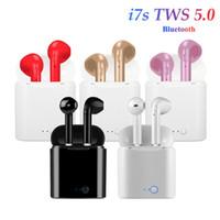 ohrschalen großhandel-Bluetooth-Kopfhörer I7 I7S TWS Twins Ohrhörer Mini-Funkkopfhörer In-Ear Air Headset Pods V5.0 für Android-Handys mit Kleinpaket
