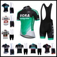 ingrosso pantaloni di pile di poliestere delle donne-2019 best seller BORA Team Summer Cycling Jersey set Biciclette camicie pantaloncini tuta uomo abbigliamento ciclismo Maillot Ciclismo Hombre