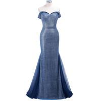 Wholesale designer mothers dresses online - Under Newest Real Photo Evening Prom Dresses Mermaid Off Shoulder Sequins Reflective Bridesmaids Gowns Mother Dress CPS1249