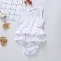 Wholesale linen newborn clothes for sale - Group buy Newborn Baby Romper Colors Girls Ruffle Onesies Infant Girl Casual Clothes Toddler Baby Sleeveless Jumpsuit Vetement Bebe Ropa Bebe