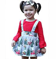 tee-shirt bébé en coton chaud achat en gros de-Costume de mode chaud pour enfants vêtements t-shirt et print jupe vêtements de loisirs bébé filles printemps coton top top price S19JS010