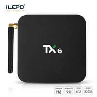 bluetooth stück großhandel-Android TV Box 4 GB + 32 GB Android 9.0 TX6 Iptv Box 4 K Smart Media Player Unterstützung Bluetooth 5.0 Dual WIFI 1 Stück
