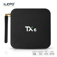 androide preise großhandel-Geringster Preis! 1 Stück TX6 Android 9.0 TV-Box 4 GB + 32 GB 4K Smart Media Player WIFI 2,4G + 5G Bluetooth 5.0