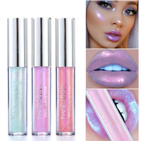 Wholesale liquid lip pigments resale online - New Liquid Crystal Glow Lip Gloss Laser Holographic Lip Tattoo Lipstick Mermaid Pigment Glitter Lipgloss Lip Plumper Gloss Makeup