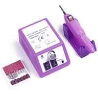 glasurgel nagellack großhandel-20000rpm elektrische Nagel-Bohrgerät-Maschinen-Maniküre-Pediküre-Dateien Kit Werkzeuge Nagel-Polierschleif Glazing-Maschine für Gel Polish