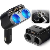 led display produtos venda por atacado-Universal rápida Dual USB Car Charger Adapter Display LED Charger Cigarette Auto produtos multifuncionais carro para o telefone