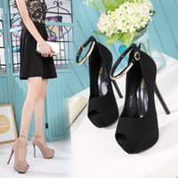 Wholesale fish heads shoes for sale - Group buy Fascinating2019 Fine Shoes High heeled With Sexy cm Nightclub Circle Head Latest Fashion Fish Mouth Single Shoe Small Code Centimeter