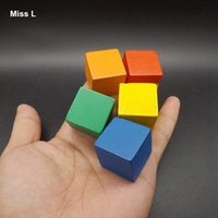 yığın oyunu toptan satış-2.5 cm Ahşap Küp 100 adet Renkli Yuvarlanan Oyunu Blokları Stack Up Erken Kafa Başlangıç Eğitim Oyuncaklar Çocuklar Hediyeler