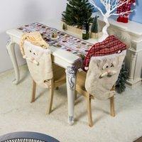 cubierta de la silla de comedor mantel al por mayor-Fundas para sillas de Santa Claus dining Tabla Presidente del Partido Tabla Volver cubierta de tela de la decoración de la decoración de la cena Volver