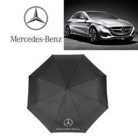 paraguas plegable de golf al por mayor-Mercedes Benz Paraguas al aire libre Protección solar al aire libre Paraguas de tres veces Diseñador de moda de golf Paraguas Explosión Venta caliente