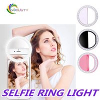 Wholesale box for led lamp for sale - Group buy Manufacturer charging LED flash beauty fill selfie lamp outdoor selfie ring light rechargeable for all mobile phone with Retail Box