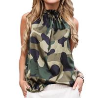 sexy seidenhalter großhandel-Frauen Silber Seide Halfter Top Bluse Frauen 2019 Sommer Sexy Sleeveless Blusen Femininas Floral Leopard Lose Shirt Tanks Blusas