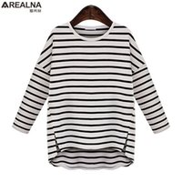 cbb4d699c3e9cd AREALNA 2019 Autumn Casual Loose Striped tshirt women tops Long sleeve T-shirts  Oversized tee shirt femme Plus size Clothing 5XL T19053107