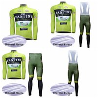 Wholesale cycling thermal sets resale online - FANTINI team Cycling Winter Thermal Fleece jersey bib pants sets Outdoor bicycle Racing mens Long sleeves Sportswear Q72415