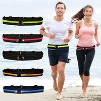 Wholesale sports mp3 online - For Apple iphone Xs Max Xr multi functional Outdoor Running Sports MP3 pockets Waist Bags Waterproof Cell Phone Zip Pouches