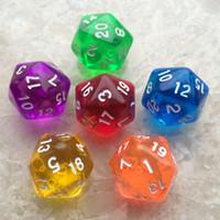 dados dos dragões das masmorras venda por atacado-Chegada Nova Dungeons and Dragons Polyhedral DD Dices Board Game Tabela 20 Sided Dnd Jogo Acrílico 20 Rosto D20 Dice Presentes originais M515Y