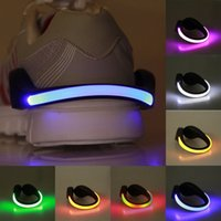 Wholesale cycling shoe clips resale online - LED Luminous Shoe Clip Light Bicycle LED Night Outdoor Running Shoe Cycling Sports Flash Lights Night Safety Warning Light