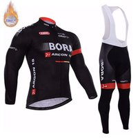 Wholesale thermal fleece cycling jersey pants for sale - Group buy 2019 Men BORA team Cycling Jersey Suit Men winter thermal Fleece long sleeve Bike bib pants set Mtb Bicycle Clothing maillot Ciclismo