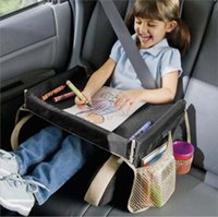 Wholesale children storage for toys resale online - Newly Waterproof Car Seat Tray Kids Toys Storage Table Infant Stroller Holder for Children Travel Dining Drinking In Car