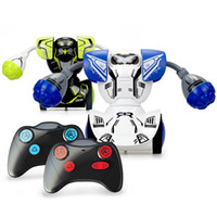 Wholesale boys blue toys for sale - Group buy Silverlit Remote Boxing Robot Parent child Interactive Electric Combat Robot Kombat Twin Set Accessories Kids Boys RC Robot Holiday Gift