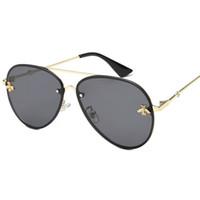 gafas de sol de marca de lujo al por mayor-2019 Nuevo diseñador de la marca de alta calidad de lujo para mujer gafas de sol de las mujeres gafas de sol gafas de sol redondas gafas de sol mujer lunette