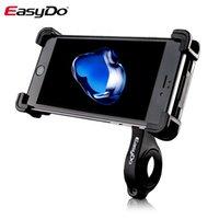 telefon çevirme standı toptan satış-EasyDo Bisiklet Telefon Tutucu Bisiklet Gidon Montaj Dirseği GPS Standı Motosiklet Telefon Tutucu Kaymaz Evrensel 360 Dönen # 613523