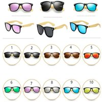 Wholesale wood legs sunglasses for sale - Group buy Summer Bamboo Designer Sunglasses Retro Vintage Wood Legs Sun Glasses Teenager Casual Colored Polarized Glasses For Beach Outdoor New A41906
