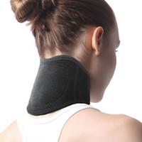 magnetic therapy venda por atacado-Cuidados Com O Pescoço Auto-aquecimento Neck Band Terapia Magnética Cervical Spine Warm Neck Suporte de Cuidados de Saúde Ferramentas RRA1215
