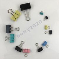Wholesale paper binder clips metal for sale - Group buy Multi function Colorful Binder Clip Paper Clip Metal Clip Office and School Supplies Stationery many Kinds of size