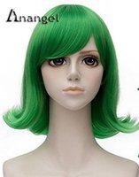 iç film toptan satış-Cosplay Peruk Yeni Film Tersyüz Peruk Kostüm Yeşil Kısa Cadılar Bayramı Saç