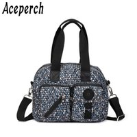 Wholesale clutch handle handbags resale online - ACEPERCH Women Bags Handbags Women Top handle Famous Brands Nylon Shoulder Female Beach Bag Sac A Main Bolsas Feminina Clutch