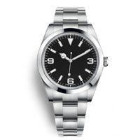 сапфир без очков мужские часы оптовых-Наружные часы с автоподзаводом 40 мм с фиксированным куполом из нержавеющей стали, сапфировая рамка и мелкие маркеры вокруг внешнего обода