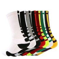 meias longas homens venda por atacado-EUA Profissional de basquetebol Socks Knee longo Atlético Sport Socks Men Moda de compressão térmica Meias Desporto de Inverno LJJA2694-11