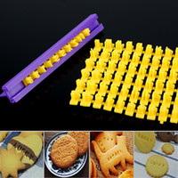 Wholesale plastic cookie cutter press for sale - Group buy DIY Alphabet Plastic Cake Mould Letter Impress Biscuit Cookie Mould Cutter Press Set Stamp Embosser Fondant Mold