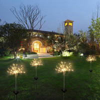 Wholesale decorative solar outdoor string lights resale online - Solar Fireworks Lights LED String Lamp Lawn Lamps Waterproof Outdoor Home Garden Lighting Christmas Party Decorations TTA1929