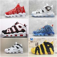 Wholesale sneaker shoes uk for sale - New Air More Uptempo Italy UK CNY Mens Basketball Shoes Pinstripe Scottie Pippen PE Triple White Athletic Sports Womens Sneakers Trainers