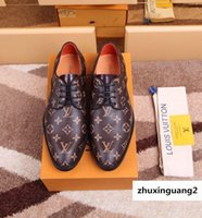 Wholesale sandal business resale online - Hot Sale Printing Formal Business Guan Men Dress Shoes Boots Loafers Drivers Buckles Sneakers Sandals