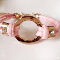 zubehör armbänder großhandel-Neue Mode-Accessoires handgefertigte Retro-PU-Lederarmband Herren Damenmode Armband Männer und Frauen Schmuck
