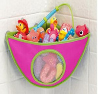 Wholesale bath wall toy resale online - Kids Bath Toys Storage Bag Children Bathroom Waterproof Bathing Toys Collection Organizer Bathroom Hanging Wall Bag RRA336