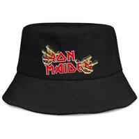 черное металлическое ведро оптовых-Iron Maiden хэви-метал группа черные мужчины рыбалка ведро шляпа от солнца прохладный пустой команды мода классический ведро suncap